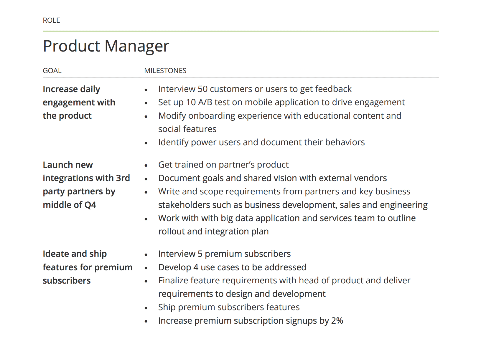 Image result for product management okr